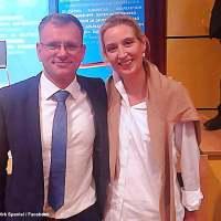 Alice Weidel, Dirk Spaniel & Marc Bernhard in Stuttgart-Vaihingen am 21.07.18