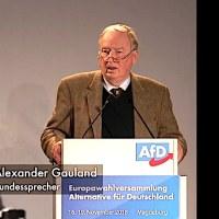 """Alexander Gauland bei Europawahlversammlung: """"Merkel hat keine Ahnung von Europa!"""""""