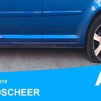 Zerstochene Autoreifen beim stellvertretenden Göppinger Kreisvorsitzenden Sandro Scheer