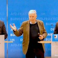 PK der AfD-Bundestagsfraktion: Wir tragen alles mit was die Bundesregierung macht, aber...